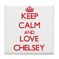 Keep Calm and Love Chelsey Tile Coaster