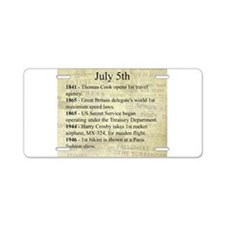 July 5th Aluminum License Plate