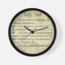 July 3rd Wall Clock
