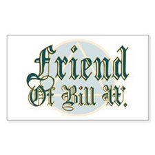 Friend Of Bill W. Rectangle Decal