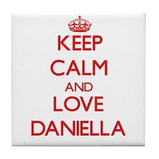 Keep Calm and Love Daniella Tile Coaster