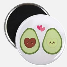 Cute Avocado in love, perfect other half Magnets