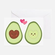 Cute Avocado in love, perfect other half Greeting