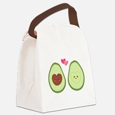 Cute Avocado in love, perfect other half Canvas Lu