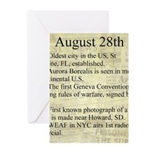 August 28th Greeting Cards