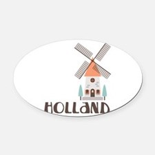 HOLLAND Oval Car Magnet