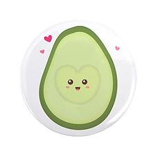 """Cute Avocado in love 3.5"""" Button"""