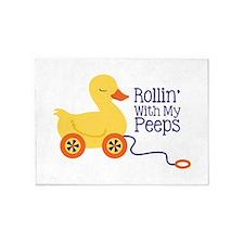 Rollin With My Peeps 5'x7'Area Rug