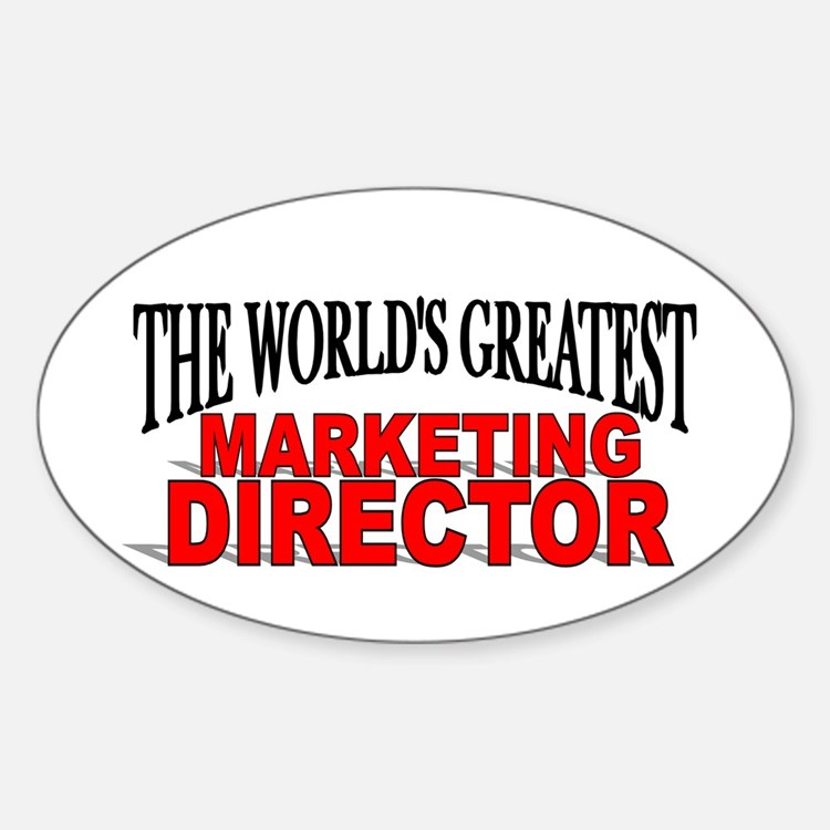 """The World's Greatest Marketing Director"" Decal"