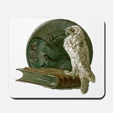 Vintage Owl with Book and Coin Mousepad