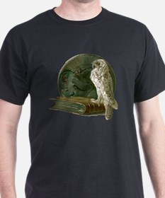 Vintage Owl with Book and Coin T-Shirt