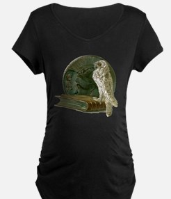 Vintage Owl with Book and C T-Shirt