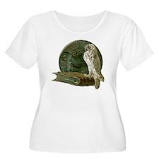 Vintage Owl w T-Shirt