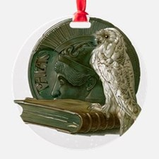 Vintage Owl with Book and Coin Ornament
