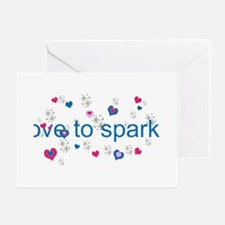 Cute Girly LOVE TO SPARKLE! Greeting Cards