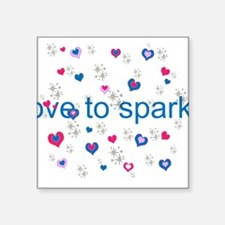Cute Girly LOVE TO SPARKLE! Sticker