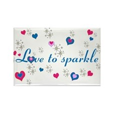 Cute Girly LOVE TO SPARKLE! Magnets