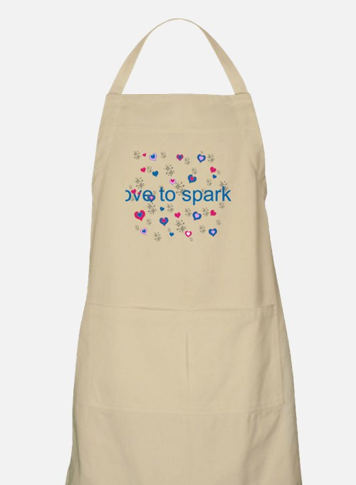 Cute Girly LOVE TO SPARKLE! Apron