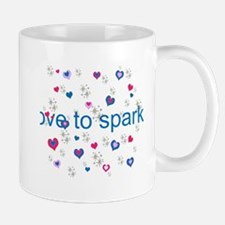 Cute Girly LOVE TO SPARKLE! Mugs