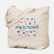 Cute Girly LOVE TO SPARKLE! Tote Bag