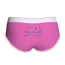 Cute Girly LOVE TO SPARKLE! Women's Boy Brief