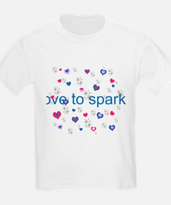 Cute Girly LOVE TO SPARKLE! T-Shirt