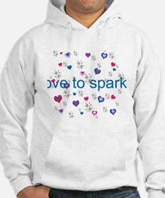 Cute Girly LOVE TO SPARKLE! Jumper Hoody