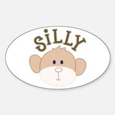 silly monkey Oval Decal
