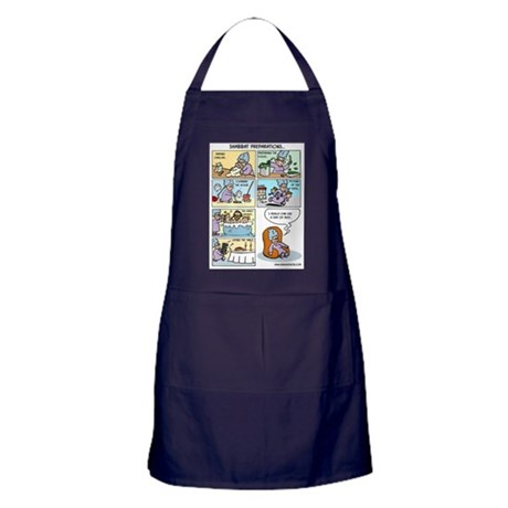 Shabbat Preparations Apron (dark)