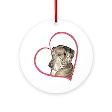 N Mrl Heartline Ornament (Round)