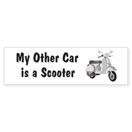 Just Gotta Scoot Silver Bumper Sticker