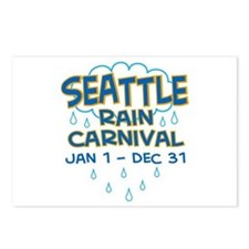 Seattle Rain Carnival Postcards (Package of 8)
