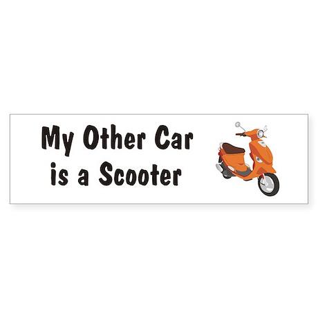 Just Gotta Scoot Orange Buddy Bumper Sticker