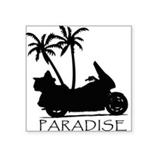Wing in Paradise Rectangle Sticker