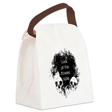 Look at the flowers Lizzie Canvas Lunch Bag