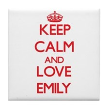 Keep Calm and Love Emily Tile Coaster