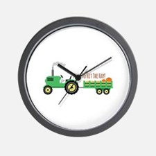 Time To Hit The Hay! Wall Clock