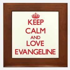 Keep Calm and Love Evangeline Framed Tile