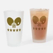 Ping Pong table tennis Drinking Glass