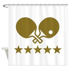 Ping Pong table tennis Shower Curtain