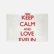 Keep Calm and Love Evelin Magnets