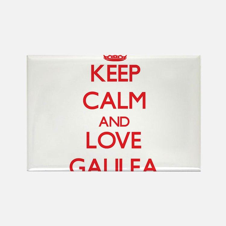 Keep Calm and Love Galilea Magnets