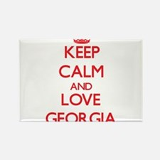 Keep Calm and Love Georgia Magnets