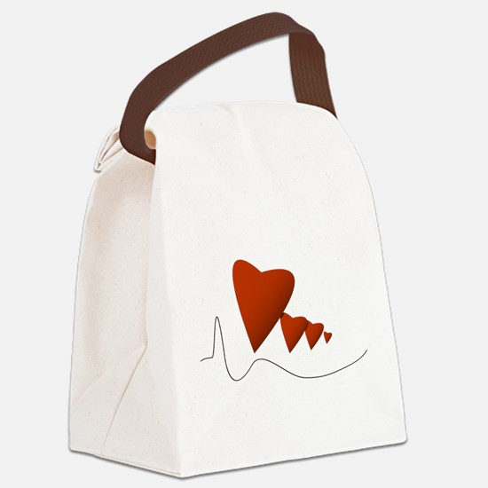 Heartbeats - Canvas Lunch Bag