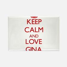 Keep Calm and Love Gina Magnets