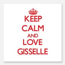"""Keep Calm and Love Gisselle Square Car Magnet 3"""" x"""