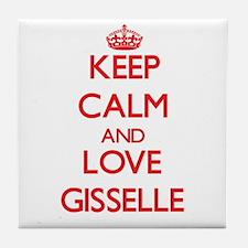 Keep Calm and Love Gisselle Tile Coaster