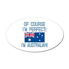 Perfect Australian 20x12 Oval Wall Decal