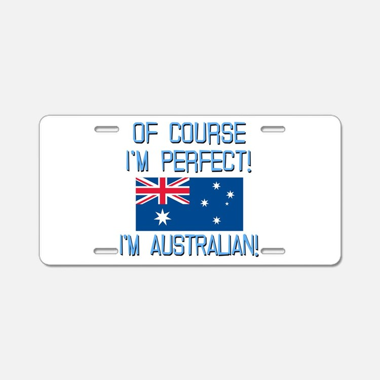 Perfect Australian Aluminum License Plate