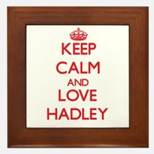 Keep Calm and Love Hadley Framed Tile
